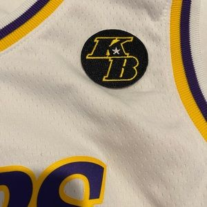 Nike Lakers AD jersey with Kobe patch